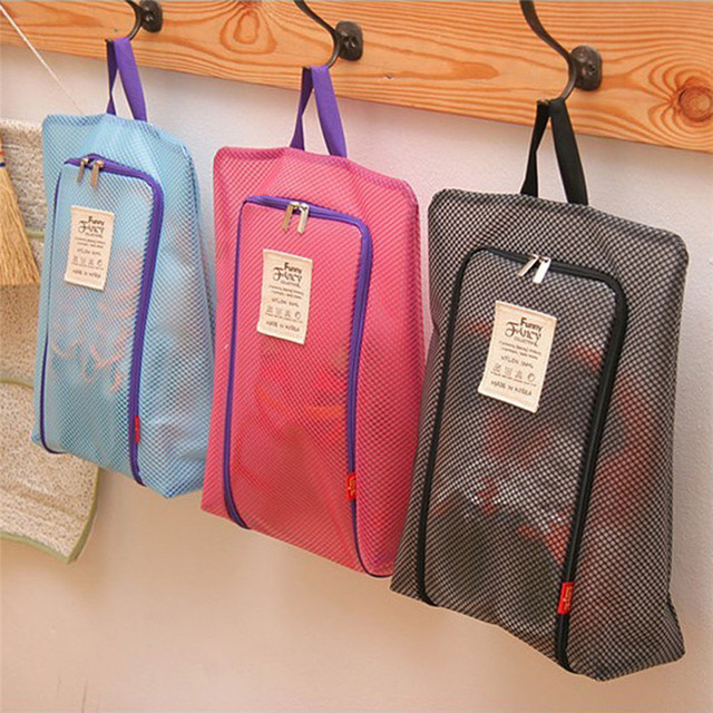 New 36 27cm Waterproof Portable Travel Shoe Bag Zip View Window Pouch Storage Drop Shipping
