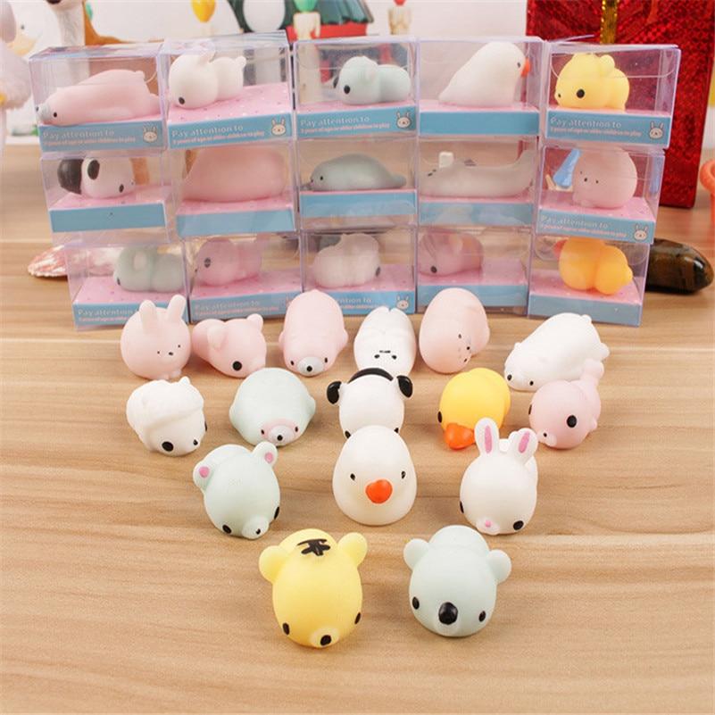 1pc Cute Luminous Animal Squeeze Toy Squishy Cat Squeeze Healing Fun Kids Kawaii Toy Stress Squishes Slow Rising Toys A1