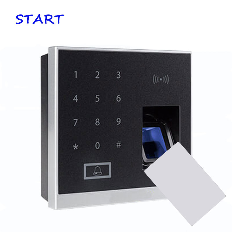 ZK X8-BT Biometric Fingerprint Door Access Control System With 13.56MHZ MF Card Reader Support Bluetooth