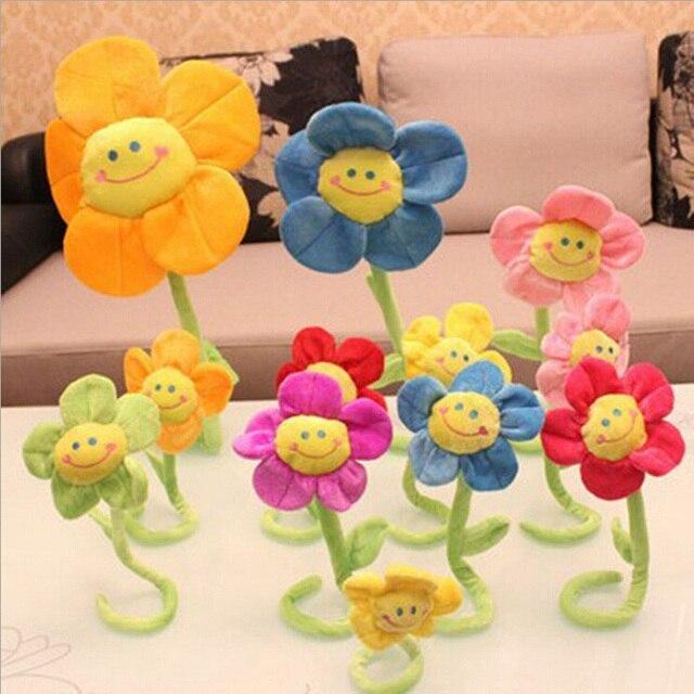 2016 New Creative Cartoon Sunflowers Curtain Buckle Bouquet Doll Plush Gift Toys