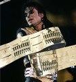 Rare MJ Michael Jackson Jam Perigoso Matel Bala Cinto Artesanal de Couro Do Punk Rock de Ouro Todo o Tamanho Para A Coleção Show
