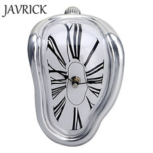 Creative Novelty Salvador Style Shelf Wall Clock Irregular Warp Melting Clock For Family Friend's Gift Home Decoration