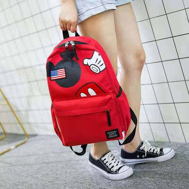 2019 New Mickey Backpack Casual Girl School Bag Large Capaciy Shoulder Bag Nylon Travel Backpack For Childrens Mochila Feminina