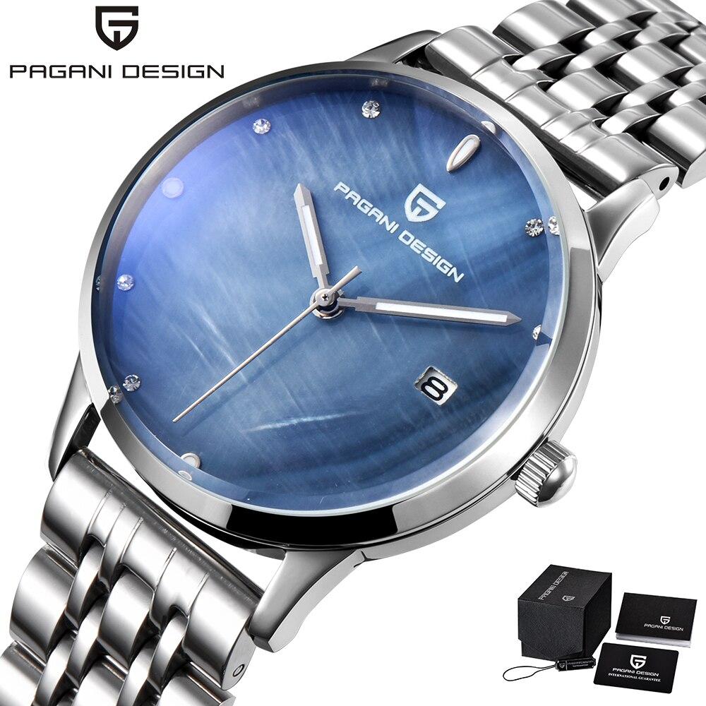 Pagani Design Luxury Brand Women Quartz Watches Stainless Steel Blue Watch Women Ladies Watch Simple Wristwatch