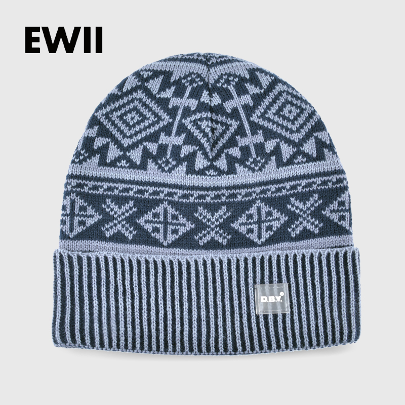 2017 New winter hats for men skullies bonnet beanie hat boy winter knitting wool cap men beanies knitted warm caps gorro bone 2017 new wool grey beanie hat for women warm simple style bad hair day knitting winter wooly hats online ds20170123 x24