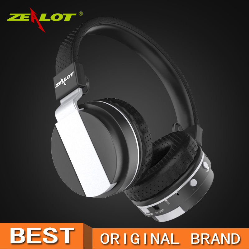 ZEALOT B17 Noise Cancelling Super Bass Wireless Stereo Bluetooth Headphone With Microphone, FM Radio, TF Card Slot hifi deep bass wireless stereo bluetooth headphone noise cancelling headset with mic support tf card fm radio