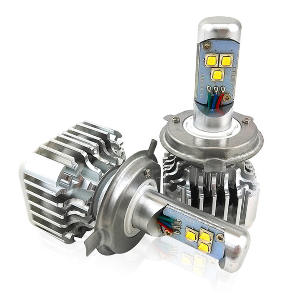 ФОТО H4 Car LED Headlight Kit H4-3 9003 HB2 Hi/Lo Xenon Headlight Auto Front Bulb 60W/Pair 6000LM/Pair 6000K 12V Car Replacement Bulb