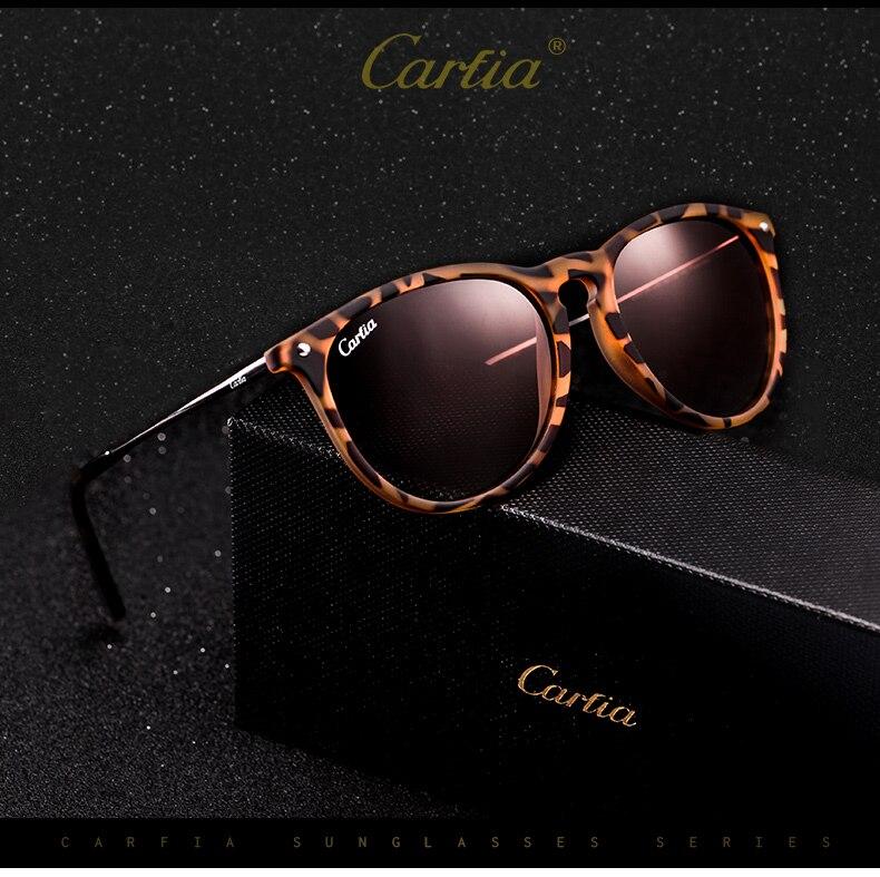 7b3dad7af Carfia Mulheres Clássico Retro Dos Óculos De Sol Polarizados Do ...