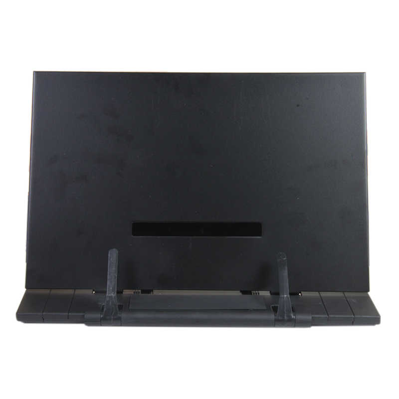 Portable Book Stand marco lectura escritorio titular con 7 ranuras ajustables inclinables, negro