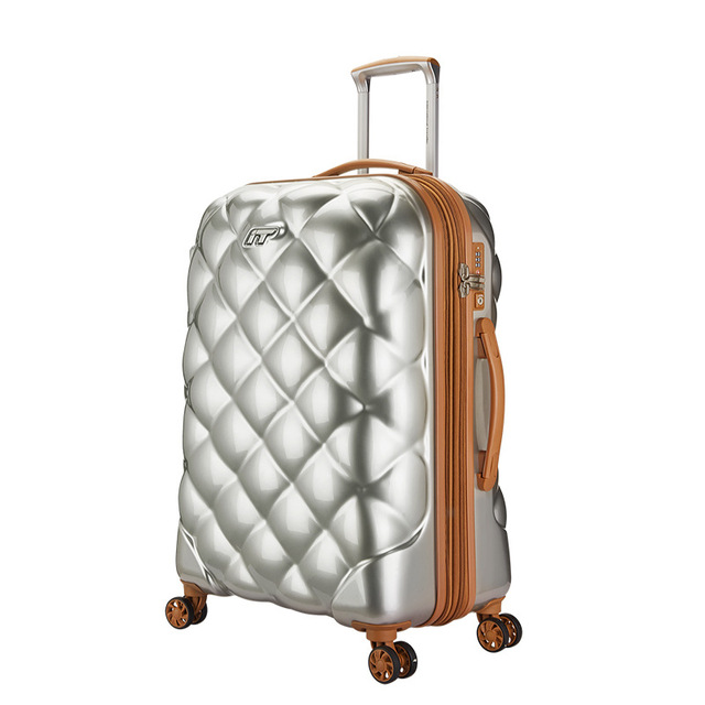 b570c4b50 Letrend Britain Spinner Rolling Luggage Ultralight Trolley Students  Suitcases Wheels Lozenge Travel Bag Trunk