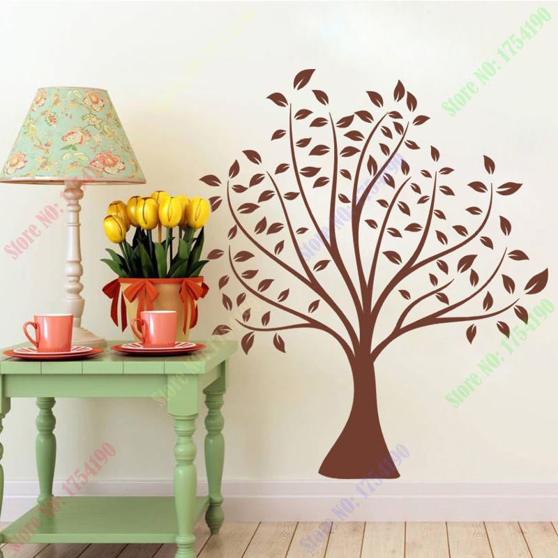 70*80cm simple classical Brown Tree home decal wedding decoration wall sticker make your family more colorful mural art stickers
