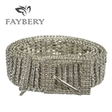 New Luxury Bling Rhinestone Women Belts for Crystal Diamonds Waist Bright Full Female Strap