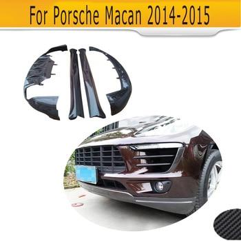 carbon fiber car body kits front lip bumper diffuser side skirt for Porsche Macan 2014-2015