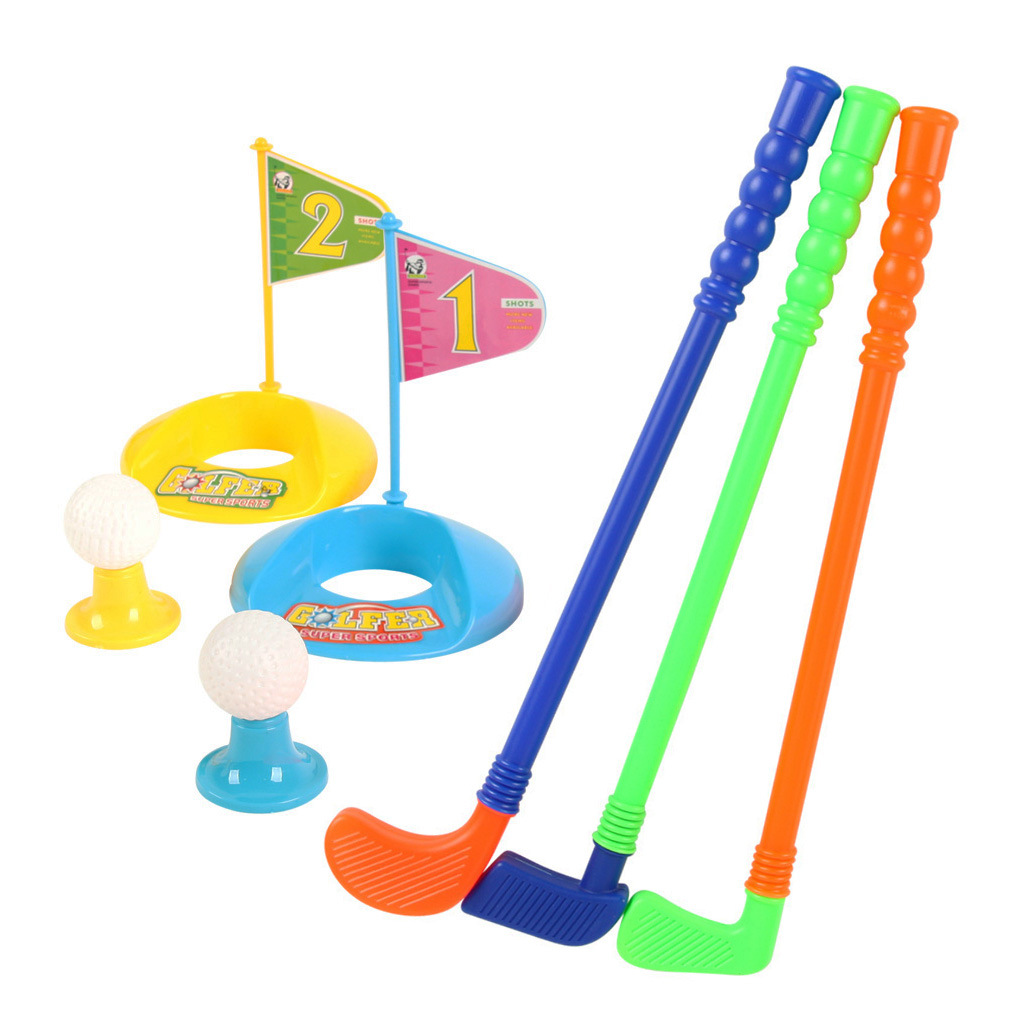 Sports Park Plastic Childrens Golf Club Suit Match Ball Outdoor Parent-child Toys A Gift To A Child