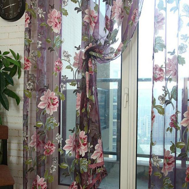 Flower Embroidered Chinese Luxury Design Curtains Fabric Drapes ...