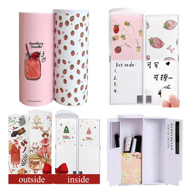 Cartoon Multifunction Pen Case with Calculator Mirror Whiteboard Marker Pencil Box Pencil Bag for Student School Stationery GiftCartoon Multifunction Pen Case with Calculator Mirror Whiteboard Marker Pencil Box Pencil Bag for Student School Stationery Gift