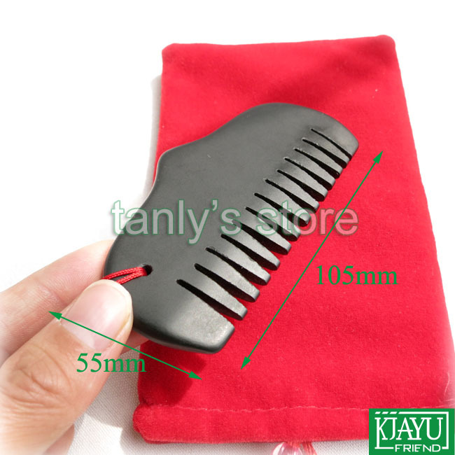 High quality Wholesale Retail Traditional Acupuncture Massage Tool Guasha Beauty face Comb Natural black Bian Stone 105x55mm in Massage Relaxation from Beauty Health