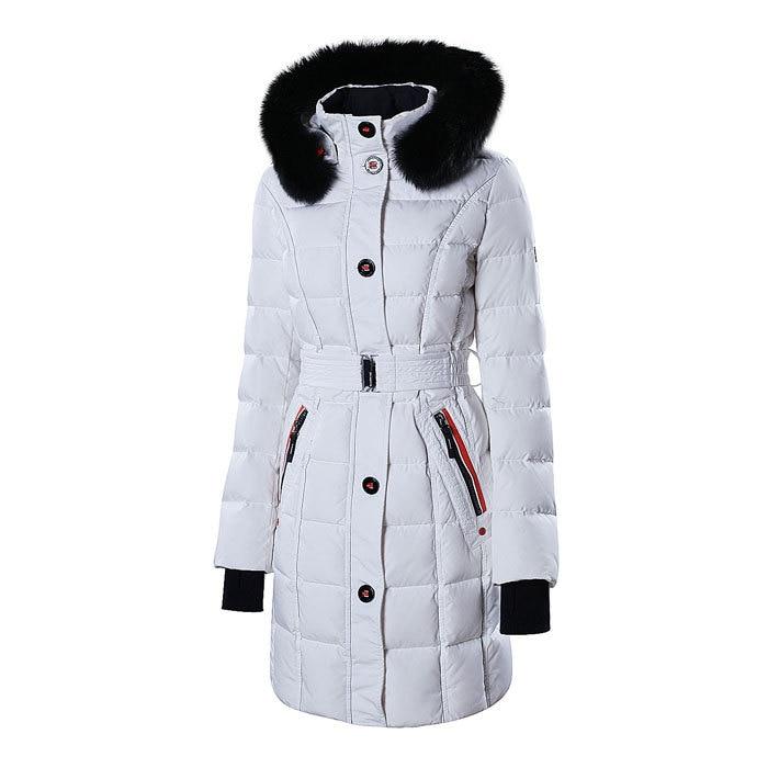 snowimage зима карман енота меховым воротником