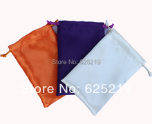 20*30/8*12inch soft satin drawstring bag gift packaging wedding pouch one color or mix 50pcs/lot  for sale