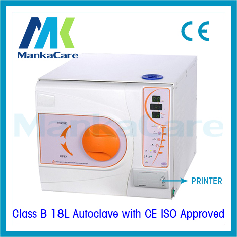 18Liters Autoclave with Printer B Class European Standard Medical Dental Lab Equipment Vacuum Steam Sterilizer disinfection romanson tl 9246 mc wh