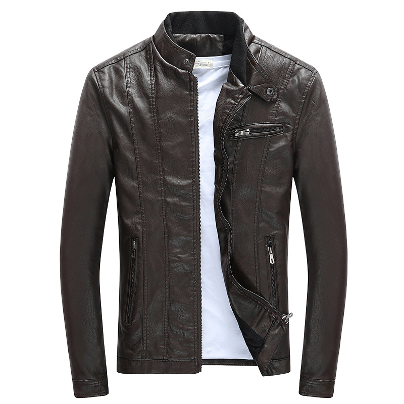 Autumn Winter Leather-based Jacket Males Easy Thick Heat Bike Jackets & Coats Males's PU Jackets Slim Match Male Clothes MY029 Jackets, Low cost Jackets, Autumn Winter Leather-based Jacket Males...