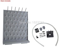 Brand New Lab Supply Wall Desk Drying Rack 52 Pegs Science Clean Education&Lab Use Support  Grey Color
