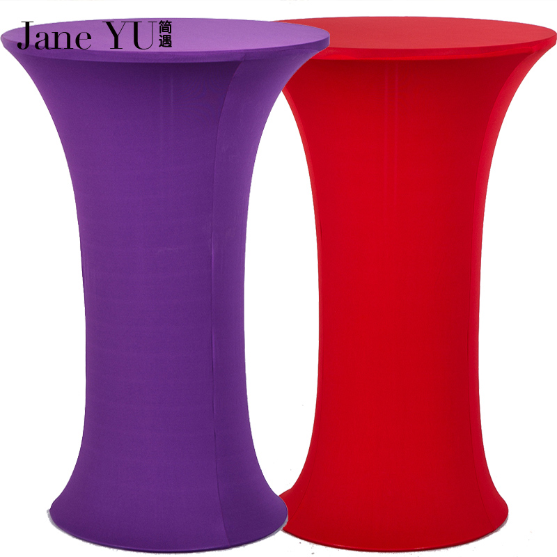 Janeyu Factory Wholesale 50 90cm Lycra Dry Bar Table Cover