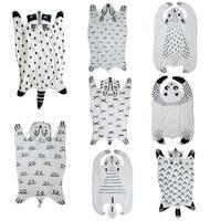 Cartoon Animals Raccoon Fox Tiger Bear Panda Lion Baby Quilted Play Mats Blanket Pad Carpet Rug