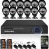 DEFEWAY 12 1200TVL 720P HD Outdoor CCTV Security Camera System 1080N Home Video Surveillance DVR Kit