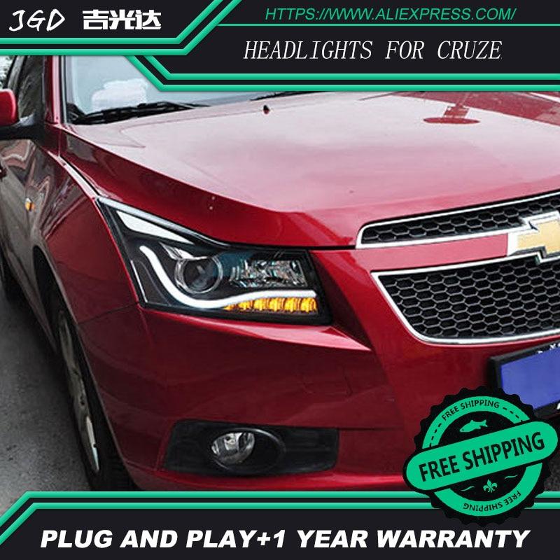Spedizione gratuita! Car styling LED HID Rio LED fari Testa Della Lampada per Cruze 2009-2013 Lente Bi-Xeno basso fascio