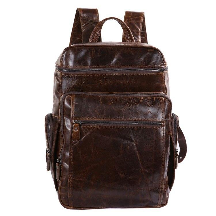 Nesitu Large Capacity Vintage Genuine Leather Unisex Men Backpacks Cowhide Man Travel Bags #M7202