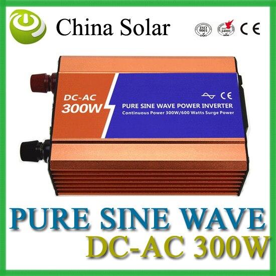 Solar & wind 300W Pure Sine Ware Inverter DC 12V ---AC 110V or 220V