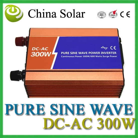 ФОТО Solar & wind 300W Pure Sine Ware Inverter DC 12V  AC 110V or 220V