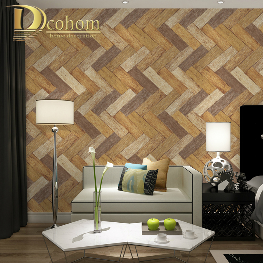Modern Art 3D Wooden Wallpaper For Walls Embossed Textured Vinyl Wall Paper Rolls For Bedroom Living Room Sofa TV Home Decor modern linen wall paper designs beige non woven 3d textured wallpaper plain solid color wall paper for living room bedroom decor