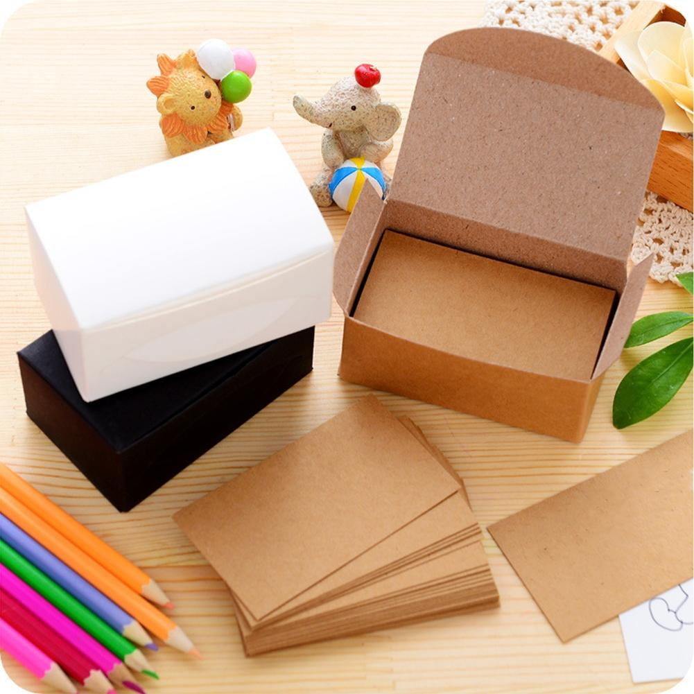 Us 204 23 Offadeeing 100pcs Double Sided Blank Kraft Paper Business Cards Word Card Message Card Diy Gift Card New Year In Cards Invitations