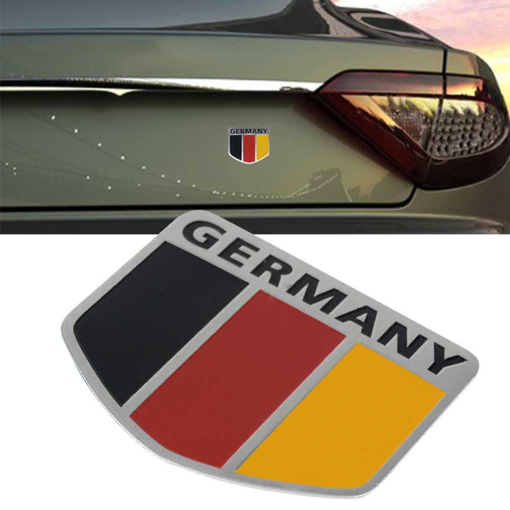 Voiture Auto motos vtt vélos drapeau allemand Logo 3D autocollant emblème Grille Badge décalcomanies emblèmes nationaux