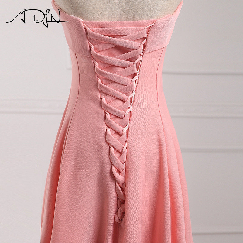 ADLN Strapless Long Bridesmaid Dresses vestido madrinha longo robe de demoiselles d honneur pour mariage imported party dress 8
