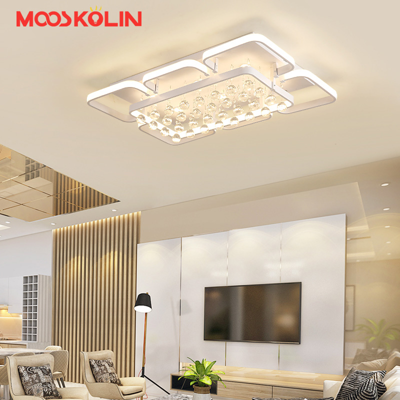 Acrylic Led Ceiling lights with remote control for Living room Bedroom plafonnier led White color Ultra-thin Led Ceiling Lamp