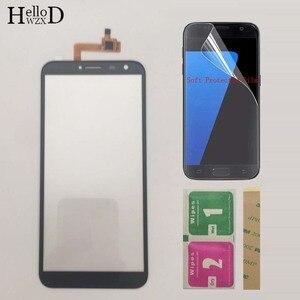 Image 2 - Moible Smartphone מסך מגע מגע מסך עבור Oukitel C8 C 8 מגע מסך Digitizer פנל קדמי זכוכית חיישן מגן סרט