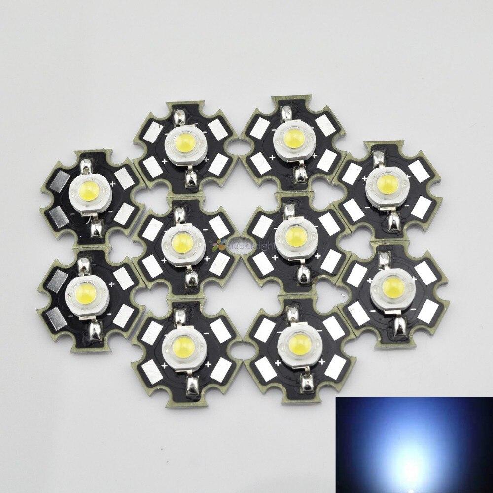 10 pièces power LED 3w 700ma blanc 180 LM