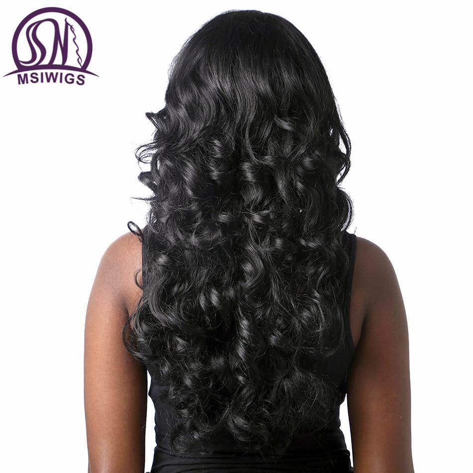 WSIWIGS μακρύ μαύρο σγουρό περούκες - Συνθετικά μαλλιά - Φωτογραφία 4