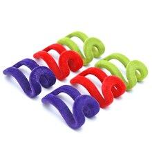 10 uds, percha para ropa de flocado en miniatura, creativa, Color al azar, para el hogar, gancho fácil, organizador para armario