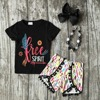 Baby Girls Summer Clothes Girls Children Spirit Girl Outfits Kids Arrow Outfits Black Top With Feather