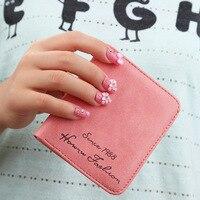A New Korean Lady Wallet Matte Student Short Thin Mini Purse Zero Wallet