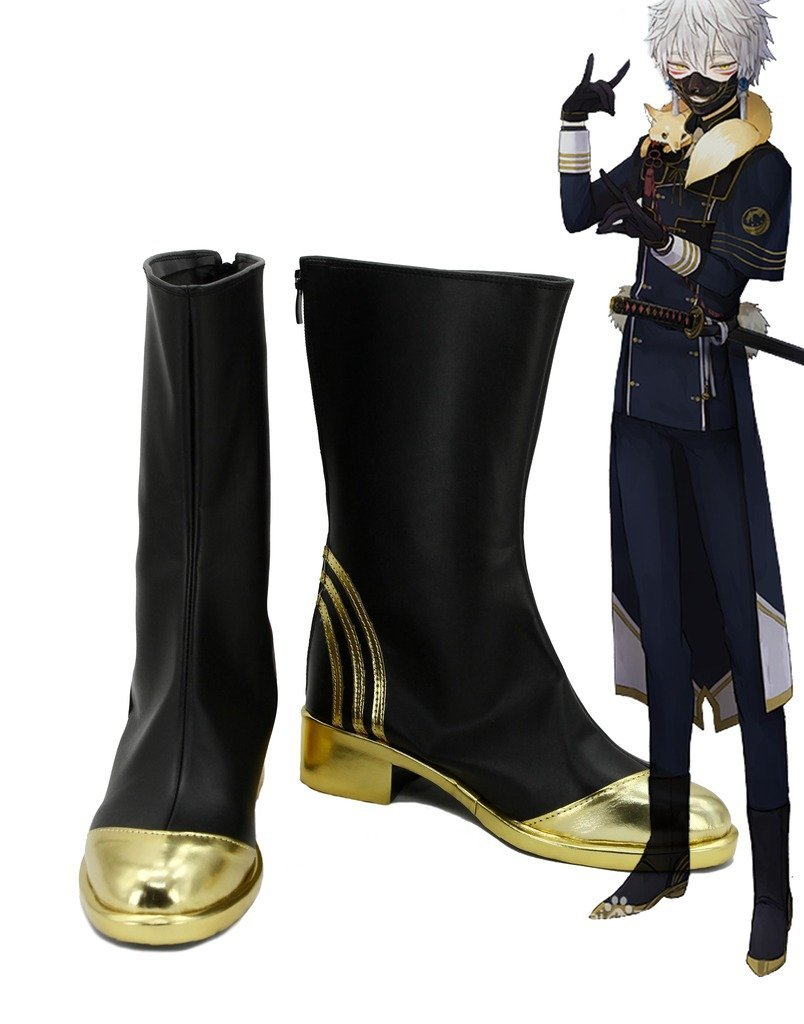 Touken Ranbu Online Game Nakigitsune Cosplay Shoes Boots Custom Made