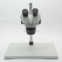 Büyük Baz Binoküler Stereo Mikroskop Endüstriyel Mikroskop Metal Standı Ile 20X-40X Büyütme Ayarlanabilir LED Işıkları