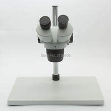 Big discount Big Base Binocular Stereo Microscope Industrial Microscope 20X-40X Magnification With Metal Stand Adjustable LED Lights