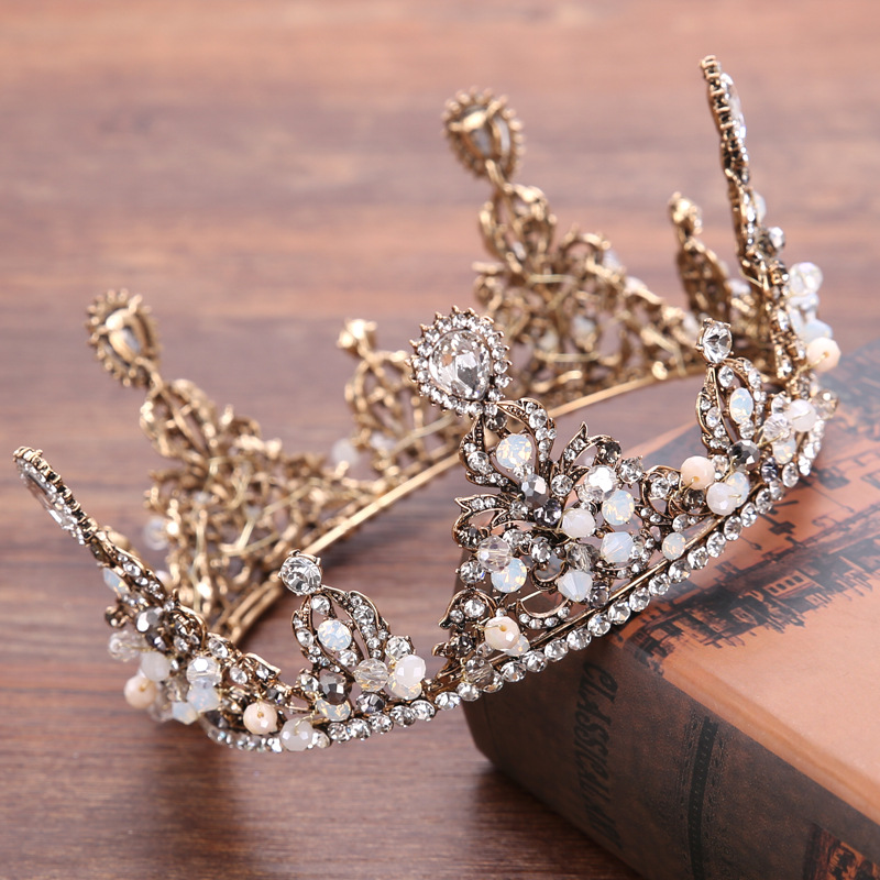 Crystal Bridal Crown Round Full Quinceanera Pageant Crowns And Tiaras Rhinestones Wedding Tiara Hair Jewelry GL-160