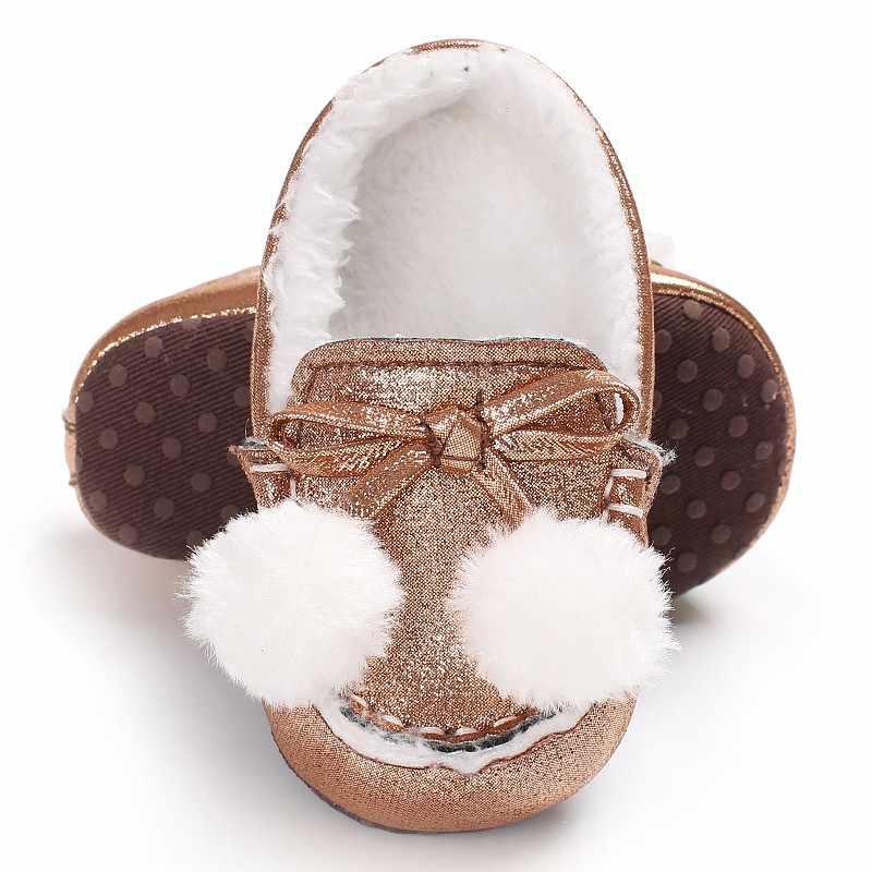 ベビー新生児幼児幼児の靴少年少女の冬秋ローファー甘い靴保温ソフトソールファーストウォーカーシューズベビーベッドベイブ
