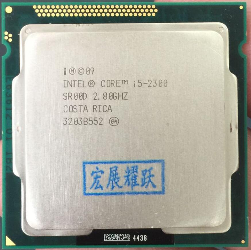 Processeur Intel Core i5-2300 i5 2300 (Cache 6 M, 2.8 GHz) LGA1155 Quad-CorePC ordinateur de bureau CPU